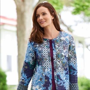 NWT Appleseed's quilted jacket large women's boho